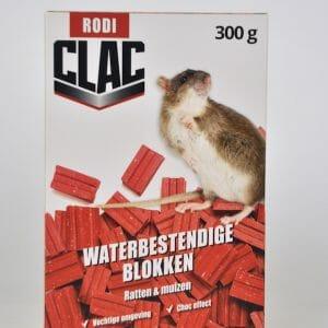 rodi clacl blokken biocide rodenticide muizen ratten difenacoum vochtwerende gebruiksklare