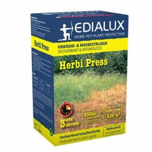 herbi press (10786G/B) pelargonzuur 500ml herbicide onkruid mosbestrijder behandeling