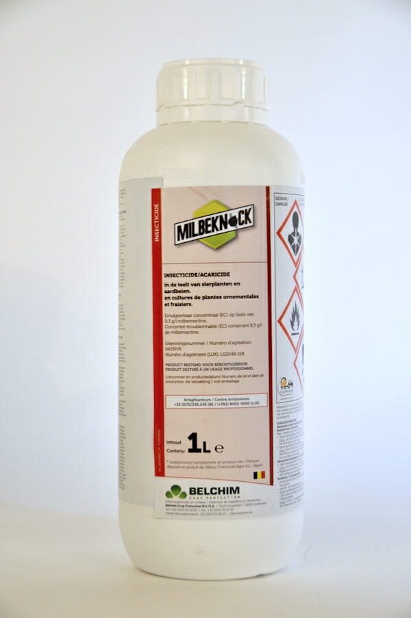 milbeknock (9435P/B) 1 liter milbemectine acaricide bonespintmijt mineervlieg insecticide